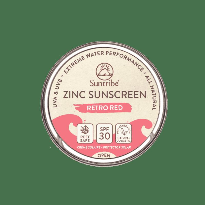 Suntribe All Natural Zinc Sunscreen Face & Sport SPF30 | Retro Red
