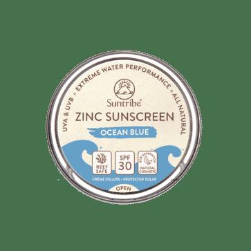 Suntribe All Natural Zinc Sunscreen Face & Sport SPF30 | Ocean Blue