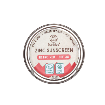 Suntribe Face & Sport All Natural Zinc Sunscreen SPF 30 – RETRO RED (45 G)