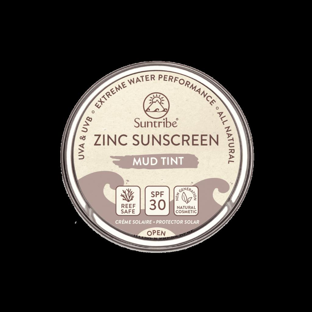 Suntribe All Natural Zinc Sunscreen Face Sport spf30 Mud Tint