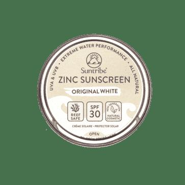 Suntribe All Natural Zinc Sunscreen Face & Sport SPF30 | Original White