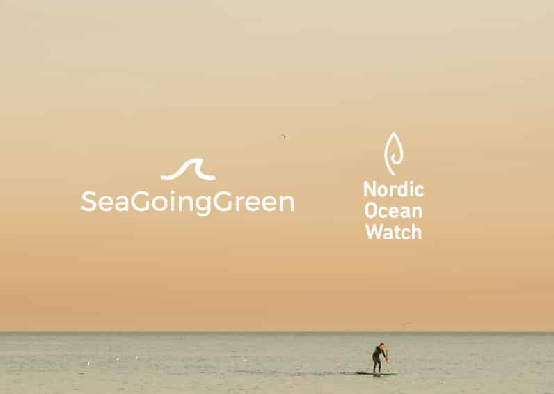 Sea Going Green Nordic Ocean Watch and Suntribe logos