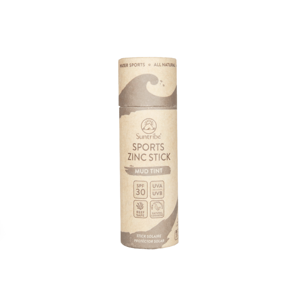 Suntribe All Natural Sports Zinc Stick Face & Sport SPF30 | Mud Tint